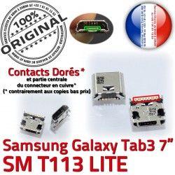 Tab3 Samsung Dorés Dock à Prise Chargeur SLOT Galaxy souder MicroUSB Fiche charge Qualité de ORIGINAL Connector USB SM-T113 Pins TAB3