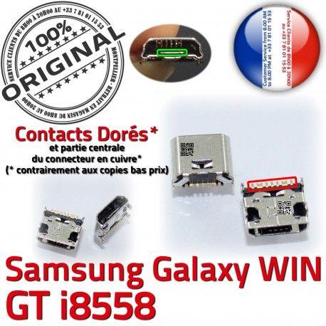 Samsung Galaxy Win i8558 USB souder de à Dock ORIGINAL Dorés Pins charge Qualité Chargeur GT Connector Connecteur Prise Micro