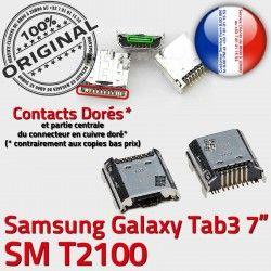 Connecteur de Connector charge Pins 7 souder USB Chargeur inch Samsung à Galaxy ORIGINAL TAB Prise SM 3 Dorés Tab Dock T2100 Micro