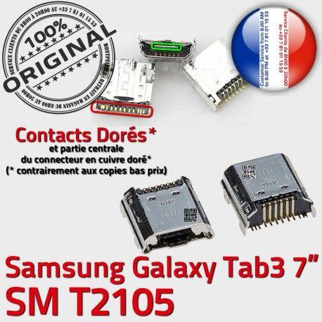 Samsung Galaxy Tab 3 T2105 USB Chargeur ORIGINAL Pins Prise souder de Connector Dock TAB Connecteur SM 7 inch Micro à charge Dorés
