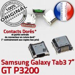 Connecteur souder Chargeur Dock de 7 à 3 Tab Prise Pins P3200 USB ORIGINAL charge Connector Micro inch TAB GT Dorés Samsung Galaxy