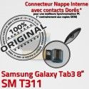 SM-T311 Micro USB TAB3 Charge Dorés Nappe Samsung Réparation Galaxy OFFICIELLE MicroUSB Qualité 3 Connecteur ORIGINAL de T311 TAB Chargeur Contacts SM