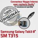 Samsung Galaxy TAB 3 SM-T315 Ch Connecteur Dorés Contacts OFFICIELLE Nappe MicroUSB ORIGINAL de Qualité Charge Chargeur TAB3 Réparation