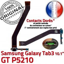 MicroUSB GT P5210 Qualité Réparation Samsung Galaxy 3 Connecteur Contacts TAB3 GT-P5210 de OFFICIELLE USB Nappe ORIGINAL Charge Micro Chargeur Dorés TAB