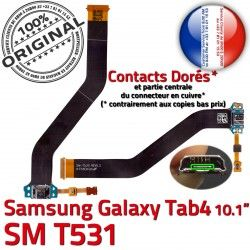 MicroUSB Nappe Qualité OFFICIELLE Dorés Samsung 4 Réparation ORIGINAL SM de T531 Connecteur Chargeur Ch Charge TAB4 Contacts TAB SM-T531 Galaxy
