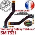 SM-T531 Micro USB TAB4 Charge SM MicroUSB OFFICIELLE Nappe ORIGINAL Contacts TAB Réparation Connecteur 4 T531 de Chargeur Qualité Dorés Samsung Galaxy