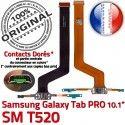 Samsung Galaxy SM-T520 TAB PRO C OFFICIELLE Qualité Nappe ORIGINAL Réparation Connecteur Doré de Contact Chargeur SM Charge T520 MicroUSB