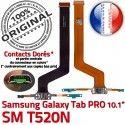 Samsung Galaxy TAB PRO SM-T520NC MicroUSB T520N Contact Chargeur Connecteur OFFICIELLE de ORIGINAL Réparation Charge SM Doré Qualité Nappe