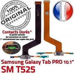 Connecteur PRO C TAB T525 Samsung SM Galaxy de ORIGINAL MicroUSB Doré OFFICIELLE Nappe SM-T525 Contact Charge Qualité Réparation Chargeur
