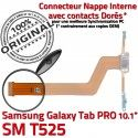 Samsung Galaxy TAB PRO SM-T525 C MicroUSB de Contact T525 Charge Doré ORIGINAL Réparation OFFICIELLE SM Chargeur Connecteur Nappe Qualité