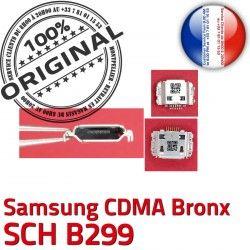 Chargeur Flex Connecteur Bronx B299 SCH CDMA Samsung de USB Prise Pins Connector Dock à Micro souder C ORIGINAL Dorés charge Portable