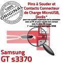 Samsung GT s3370 C USB à Flex Connecteur Prise Dorés Dock souder ORIGINAL Pins charge Micro Chargeur de Connector Portable