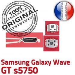 Chargeur à Flex s5750 Connector C Galaxy Wave Pins ORIGINAL charge Prise USB Dorés GT Connecteur souder de Samsung Micro Dock