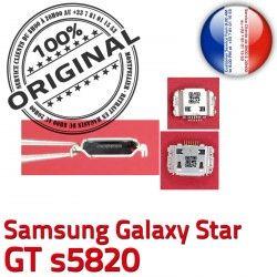 Dock de Flex ORIGINAL Micro Chargeur Samsung souder s5820 Connecteur Pins GT charge Galaxy à Star Dorés Prise C Connector USB