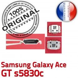 Dock de ORIGINAL Chargeur s5830c à Prise Galaxy C Connecteur Connector ACE charge Flex Dorés Samsung GT Pins Micro USB souder