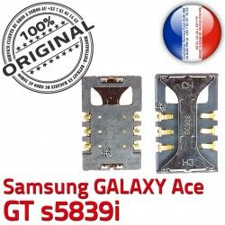 Connecteur GT ORIGINAL souder s5839i SIM Galaxy Pins Prise S Carte SLOT Lecteur Ace Contacts Card Samsung Reader Connector à Dorés