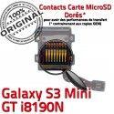 Samsung Galaxy S3 GT-i8190N SD Connector Connecteur Carte Lecteur Qualité Nappe Memoire Read Mini ORIGINAL Micro-SD Doré Contact