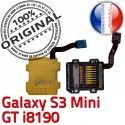Samsung Galaxy S3 GT-i8190 SD Contact Doré Read ORIGINAL Memoire GT Micro-SD Connecteur Carte Nappe i8190 Connector Lecteur Mini Qualité