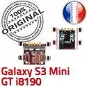 Samsung Galaxy S3 Min GT i8190 C ORIGINAL Micro Dorés charge souder Flex Connector de Connecteur Pins à Prise Chargeur USB Dock Mini