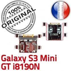 GT Dorés Mini Galaxy Dock Chargeur Connecteur C de i8190N Pins Connector à S3 Flex USB Micro Prise souder charge ORIGINAL Samsung