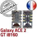 Samsung Galaxy ACE2 GT i8160 S Connecteur Carte Lecteur souder Contacts Card Connector SIM ORIGINAL SLOT Reader Dorés Pins à
