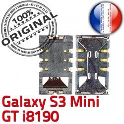 Carte Min Connector à Lecteur S SLOT Reader i8190 Mini GT Galaxy Contacts Samsung Pins S3 Card Dorés SIM souder Connecteur ORIGINAL