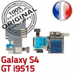 GT Memoire Connector SIM S4 Contacts S Galaxy Lecteur Qualité Dorés Carte i9515 ORIGINAL Reader Micro-SD Nappe Samsung Connecteur