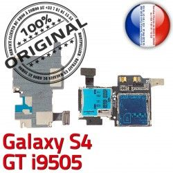 i9505 S4 GT Connector Contacts Micro-SD Samsung Dorés Lecteur Memoire SIM Qualité Carte ORIGINAL S Connecteur Galaxy Nappe Reader