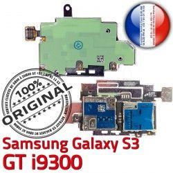 Memoire ORIGINAL Reader Carte S3 GT Galaxy Connecteur SIM Micro-SD Dorés S Connector Lecteur Nappe Samsung Contacts i9300 Qualité