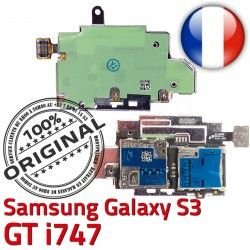 Lecteur Reader Connector Contacts Carte i747 Galaxy Memoire Samsung S3 S Dorés SIM ORIGINAL Connecteur Nappe GT Qualité Micro-SD
