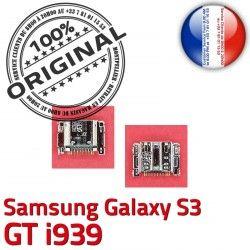 Dorés souder Chargeur charge USB C Dock S3 Galaxy Micro Samsung i939 Prise Connector Connecteur Flex à ORIGINAL GT de Pins