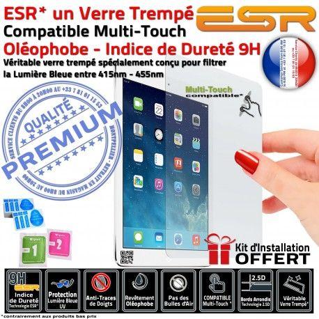 Verre Trempé Apple iPad A1430 Filtre 3 ESR UV Bleue Lumière Vitre Oléophobe Anti-Rayures Ecran 9H Chocs Protection Multi-Touch