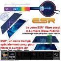 Verre Trempé Apple iPad A1458 9H Vitre Lumière Chocs 4 Oléophobe Filtre Protection ESR Ecran Multi-Touch Bleue Anti-Rayures UV