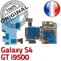Samsung Galaxy S4 GT i9500 S Contacts ORIGINAL Nappe Reader SIM Dorés Connector Memoire Carte Lecteur Connecteur Micro-SD Qualité