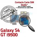 Samsung Galaxy S4 GT i9500 S Contacts Dorés SIM ORIGINAL Memoire Lecteur Connector Reader Connecteur Qualité Carte Micro-SD Nappe