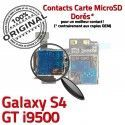 Samsung Galaxy S4 GT i9500 S Nappe Qualité Carte Connecteur Connector Contacts ORIGINAL Reader Memoire SIM Dorés Lecteur Micro-SD
