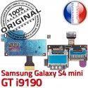 Samsung Galaxy S4 min GT i9190 S Contacts SIM Reader Dorés Lecteur mini Memoire ORIGINAL Connecteur Nappe Carte Connector Micro-SD