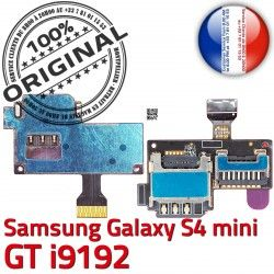 Duos S4 Duo Samsung Lecteur Micro-SD Connector Carte Mini Doré ORIGINAL Memoire Contact Nappe GT Connecteur Qualité i9192 Galaxy SIM s