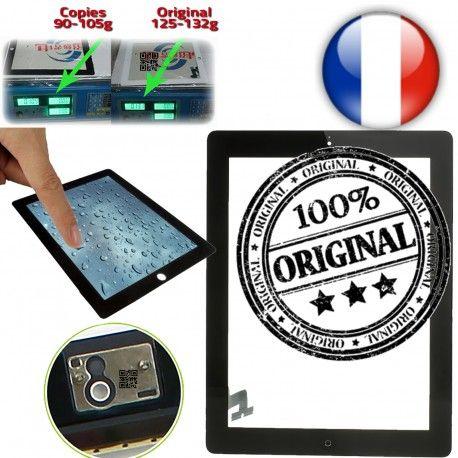 iPad2 Apple A1395 A1396 A1397 P4 en Originale Verre Tactiles 2 Oléophobe Vitres iPad Prémontés plus 4 Home Multi-Touch Ecrans épais Version Adhésif Bouton