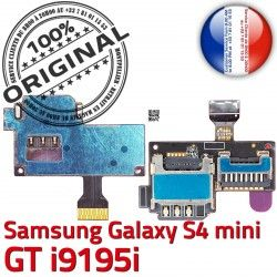 ORIGINAL Carte S4 Mini Connecteur Qualité S Nappe Doré Micro-SD Samsung i9195i SIM i9195iLecteur Read GT Contact Memoire Galaxy Connector
