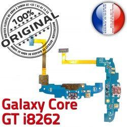 OFFICIELLE i8262 Core Qualité Samsung GT Connecteur MicroUSB C Antenne Microphone Prise Charge Nappe RESEAU ORIGINAL Galaxy Chargeur