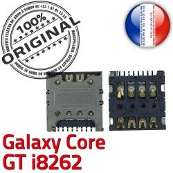 Contacts Galaxy Core souder Pins Dorés Connector Reader SIM GT ORIGINAL S Lecteur Connecteur i8262 SLOT Samsung Card à Carte