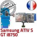 Samsung ATIV S GT i8750 Carte Connector SIM Lecteur Memoire Dorés Micro-SD Connecteur Contacts Nappe Qualité Reader ORIGINAL