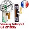 Samsung Galaxy S2 GT i9100G V S ORIGINAL 2 Connecteur à OR Connector Nappe Volume SLOT Bouton Pins Son souder Circuit Switch Dorés Contacts