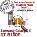 Samsung Galaxy S2 GT i9100P P Nappe Switch S Circuit Dorés ORIGINAL Bouton 2 Marche Contacts souder Pin Arrêt Connector Connecteur SLOT à OR