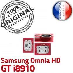 Micro GT Prise HD i8910 à Dorés charge Pins de Samsung Connecteur Dock Omnia C Flex Connector USB ORIGINAL Chargeur souder