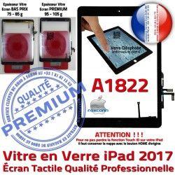 HOME Nappe Noir A1822 Oléophobe Monté Verre iPad AIR Adhésif Caméra Tactile IC Réparation Fixation Tablette Ecran Qualité Vitre