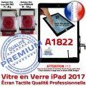 iPad AIR A1822 Noir Tactile Fixation Monté Tablette Caméra Verre HOME Oléophobe IC Vitre Adhésif Réparation Nappe Ecran Qualité