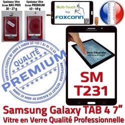 Adhésif Samsung Verre NZWAXEF PREMIUM TAB4 SM-T231NZWAXEF Assemblée Tactile Noire N SM-T231 Ecran Vitre Prémonté LCD Galaxy Supérieure Qualité