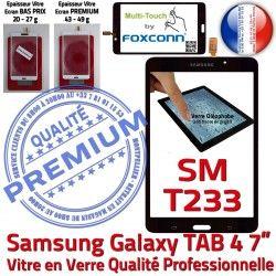 Ecran inch Tactile Prémonté PREMIUM LCD Assemblée Qualité Vitre Verre Adhésif Supérieure TAB4 N Noire Galaxy 7 SM-T233 Samsung